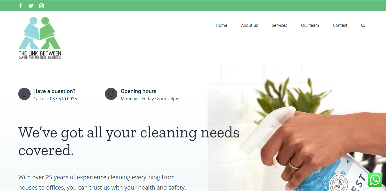 TheLink Between Careers & Business Solutions-Cleaning Services